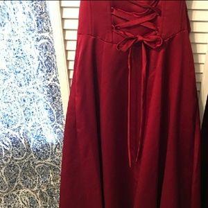 David's Bridal Dresses - David's Bridal Burgundy Strapless Dress